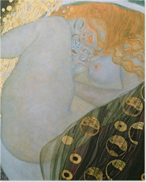 Poster Gustav Klimt - Danae - Reproduktion