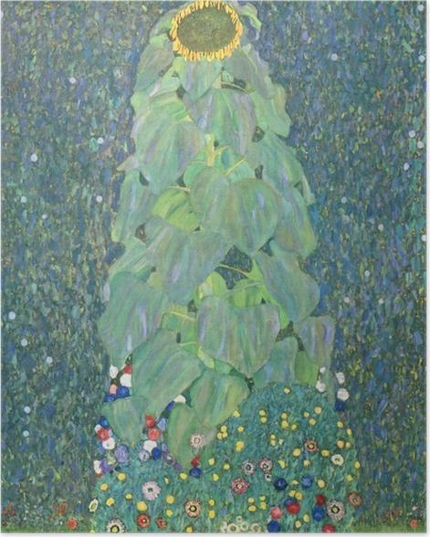 Poster Gustav Klimt - Die Sonnenblume - Reproduktion