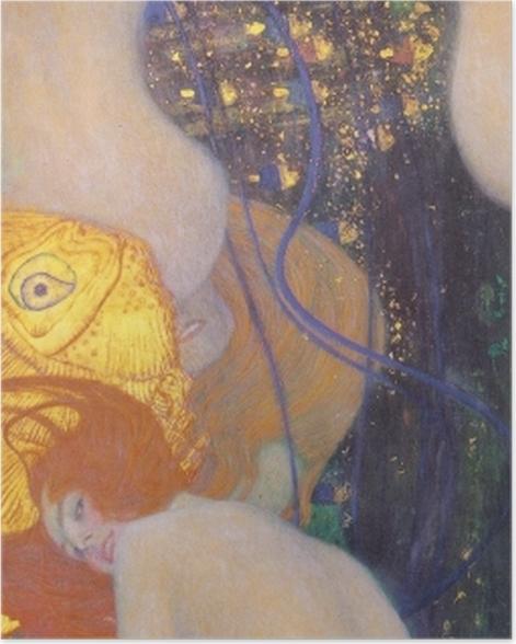 Poster Gustav Klimt - Goldfische - Reproduktion