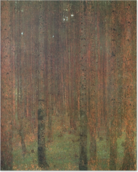 Poster Gustav Klimt - Kiefernwald - Reproduktion