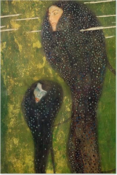 Poster Gustav Klimt - Nixen (Silberfische) - Reproduktion