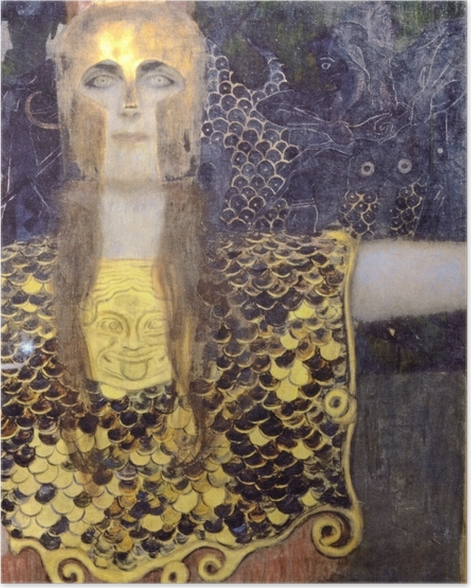 Poster Gustav Klimt - Pallas Athene - Reproduktion