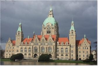 Poster Hannover Neues Rathaus nach dem regen Sturm in Hannover, Deutschland