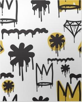 Poster HD Graffiti - seamless pattern