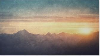 Poster HD Grunge paesaggio stile