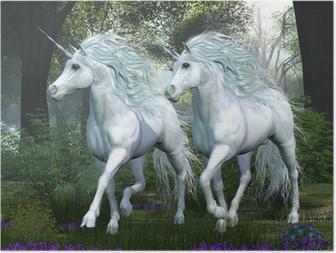 Poster HD Unicorn Elm Forest