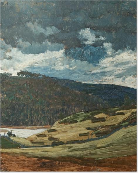 Poster Helmer Osslund - Ein Sommertag am Fluss Ljungan - Reproductions