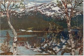 Poster Helmer Osslund - Frühlingstag am Rensjön-See nahe Åre
