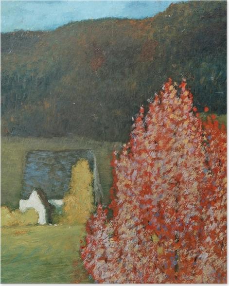 Poster Helmer Osslund - Herbstlandschaft mit Bäumen - Reproductions