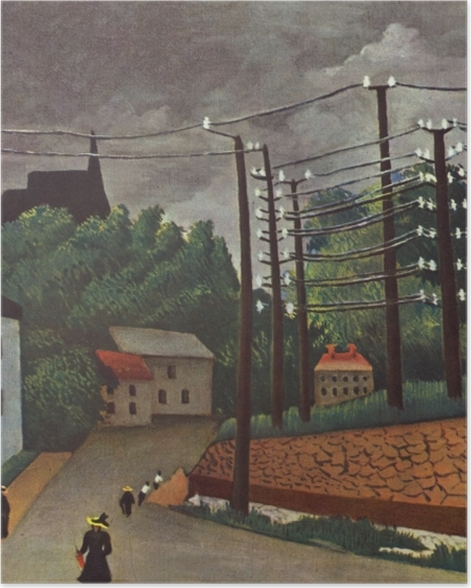 Poster Henri Rousseau - Ansicht von Malakoff - Reproduktion