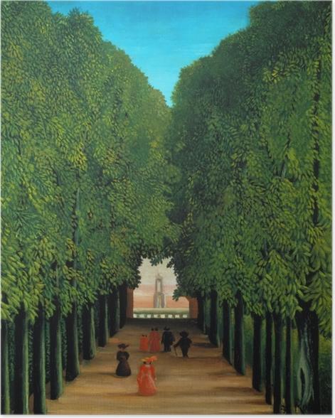 Poster Henri Rousseau - Die Allee im Park von Saint-Cloud - Reproduktion