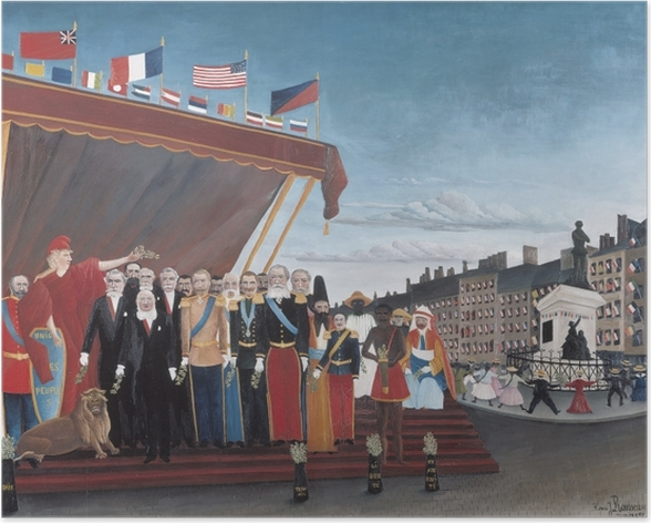 Poster Henri Rousseau - Die Vertreter der ausländischen Mächte begrüßen die Republik im Zeichen des Friedens - Reproduktion