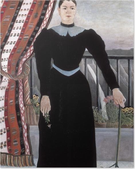 Poster Henri Rousseau - Frau mit einem Zweig (Frauenbildnis: Madame M) - Reproduktion
