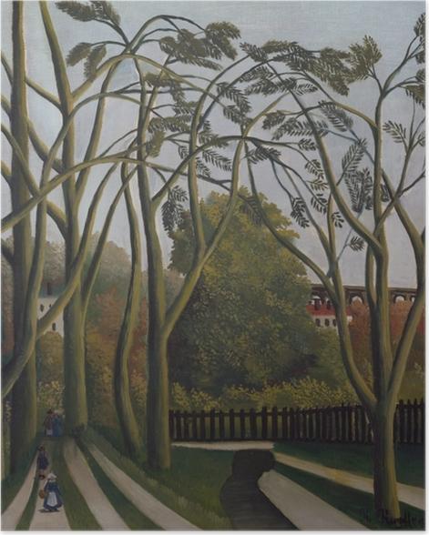 Poster Henri Rousseau - Frühlingslandschaft an den Ufern der Bièvre bei Bicêtre - Reproduktion