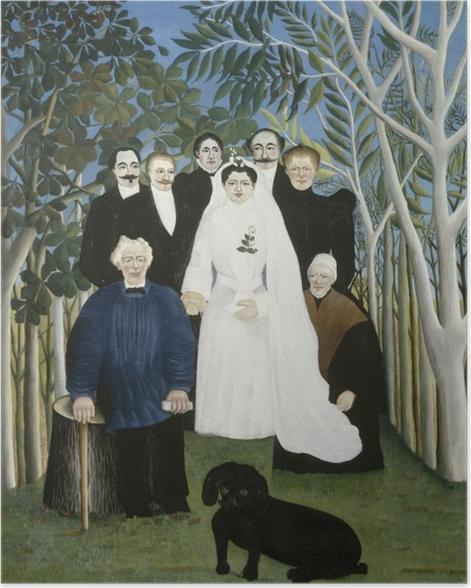 Poster Henri Rousseau - Hochzeit auf dem Land - Reproduktion