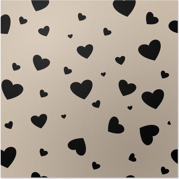 Poster Herz-paar nahtlose Muster • Pixers® - Wir leben, um zu verändern