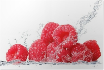 Poster Himbeer splash