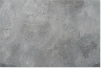 Poster Hohe Auflösung raue graue strukturierte Grunge Betonwand,