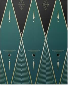 Poster I diamanti Art Deco Sfondo