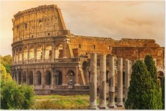 Poster Il Majestic Colosseo, Roma, Italia.