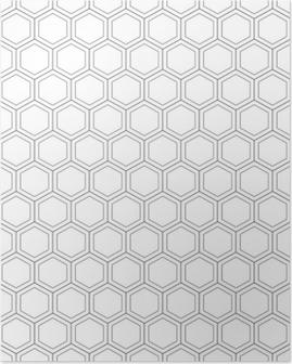 Poster Illustrazione di seamless pattern.vector a nido d'ape. trama esagonale. griglia su sfondo bianco. disegno geometrico. moderna struttura astratta elegante. modello per la stampa, tessile, confezionamento e decorazione