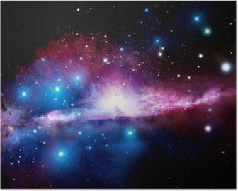 Poster Illustrazione di una nebulosa