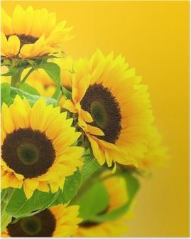 Poster Girasoli Pixers Viviamo Per Il Cambiamento