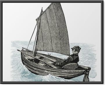 Poster in Cornice Barca a vela