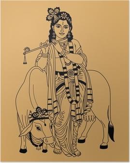 Poster Indischen Gott