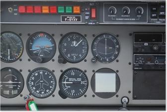 Poster Instrumentierung, Cockpit, Flug