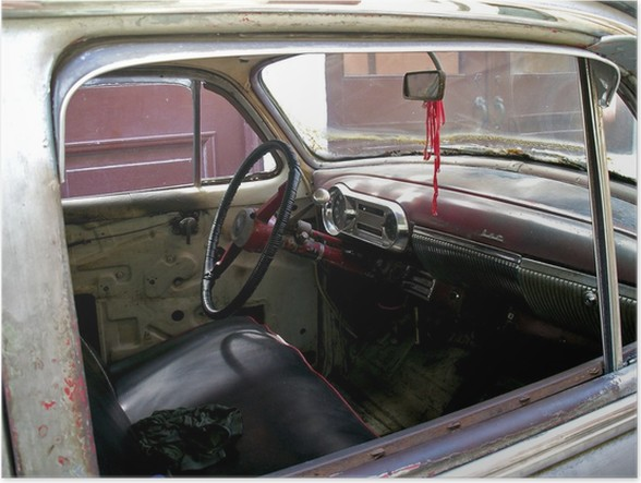 Poster Interieur d\'une voiture cubaine • Pixers® - Wir leben, um zu ...