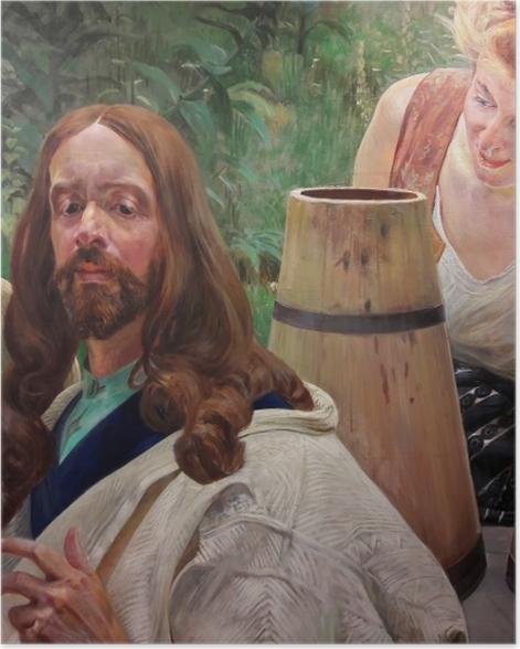 Poster Jacek Malczewski - Christus und die Samariterin - Reproductions