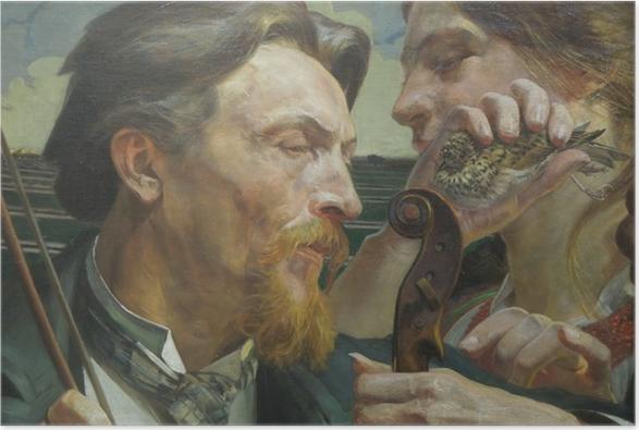Poster Jacek Malczewski - Lerche - Reproductions