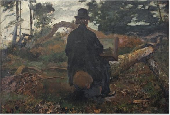 Poster Jacob Maris - Il pittore Frederik Hendrik Kaemmerer al lavoro a Oosterbeek - Reproductions