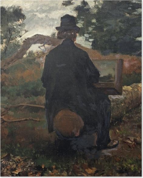 Poster Jacob Maris - Maler Frederik Hendrik Kaemmerer bei der Arbeit in Oosterbeek - Reproductions