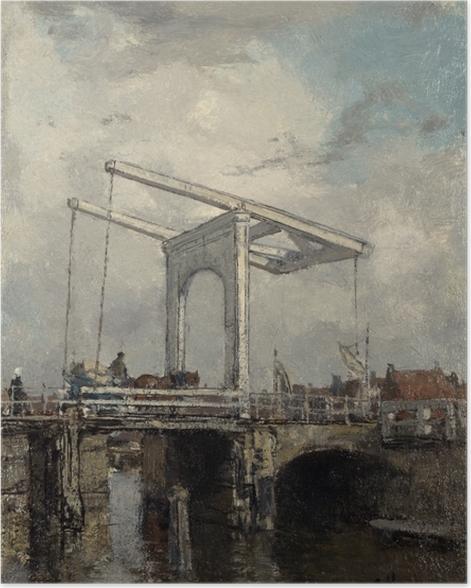 Poster Jacob Maris - Zugbrücke in einer niederländischen Stadt - Reproductions