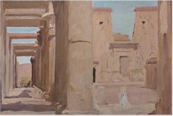 Poster Jan Ciągliński - Tempel. Von einer Reise nach Ägypten - Reproductions