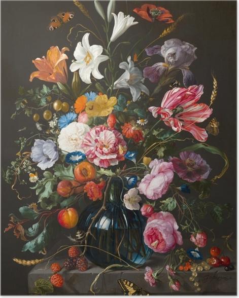 Poster Jan Davidsz - Vase of Flowers - Reproduktion