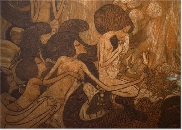 Poster Jan Toorop - Die drei Bräute - Reproductions