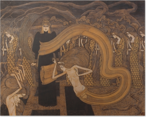Poster Jan Toorop - Fatalismus - Reproductions