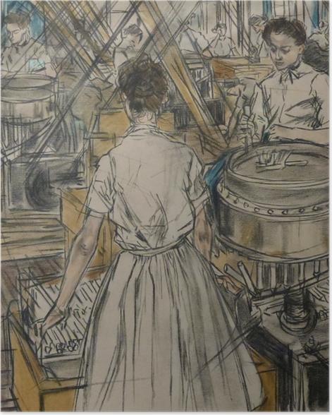 Poster Jan Toorop - Kerzenfabrik in Gouda, 1 - Reproductions