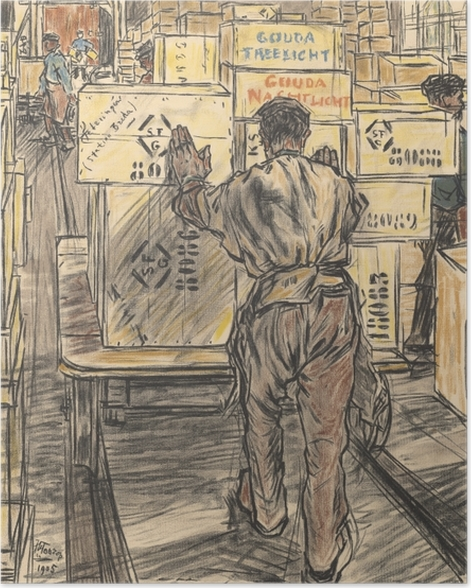 Poster Jan Toorop - Lager - Kerzenfabrik in Gouda, 4 - Reproductions