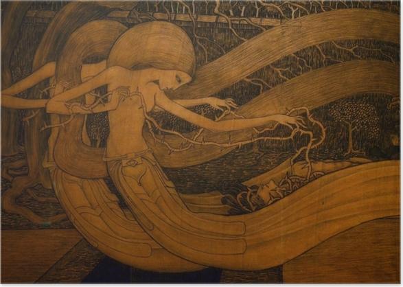 Poster Jan Toorop - O Grab, ist dein Sieg? - Reproductions