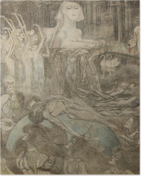 Poster Jan Toorop - Sphinx - Reproductions