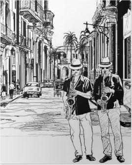 Poster Jazz-Band in Kuba