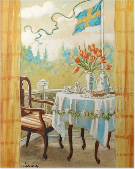 Poster Jenny Nyström - Aquarelle und Bleistift - Reproductions