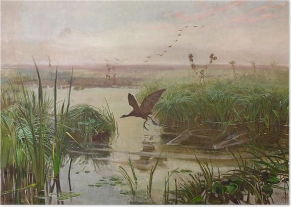 Poster Józef Chełmoński - Gallinella d'acqua - Reproductions