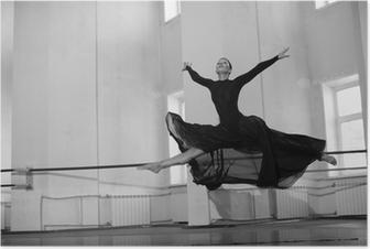 Poster Jump Training ballerina