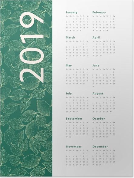 Poster Kalender 2019 – Blätter -