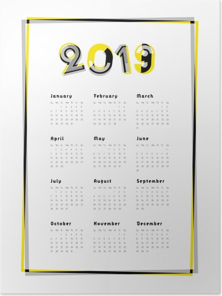 Poster Kalender 2019 -